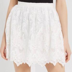 Dresses & Skirts - Plus Size Cream Lace Mini Skirt